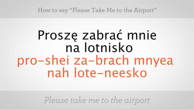 "ZY. How to Say ""Take Me to the Airport"" in Polish Promo Image"