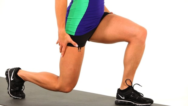 X. How to Do a Split Squat for a Sexy Legs Workout Promo Image