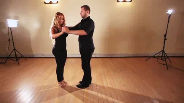 L. How to Do a Basic Cross Body Lead Salsa Step Promo Image