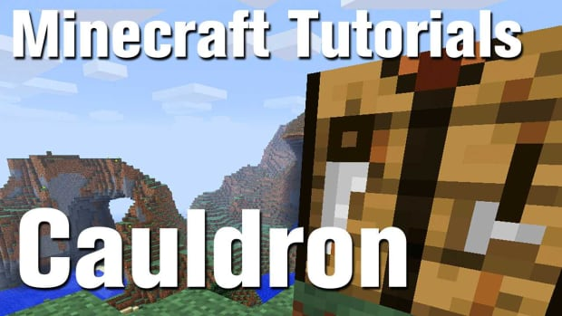 ZZB. Minecraft Tutorial: How to Make a Cauldron in Minecraft Promo Image