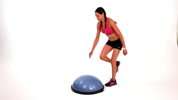 T. How to Do a Charleston Kick with a Bosu Ball Promo Image