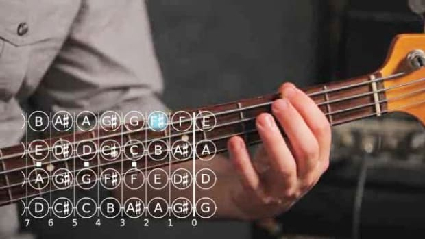 ZZZG. How to Play a D Major Triad on Bass Guitar Promo Image