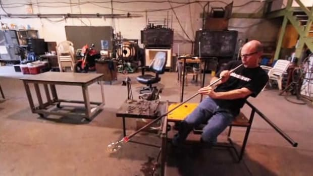 J. How to Use a Blow Pipe in Glassblowing Promo Image