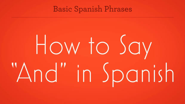 "ZZC. How to Say ""And"" in Spanish Promo Image"