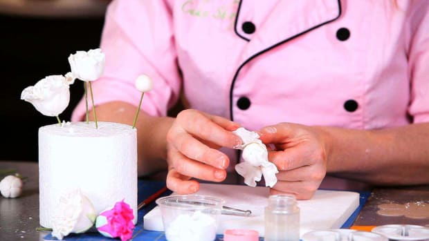 X. How to Add First Layer of Peony Sugar Paste Flower Petals Promo Image
