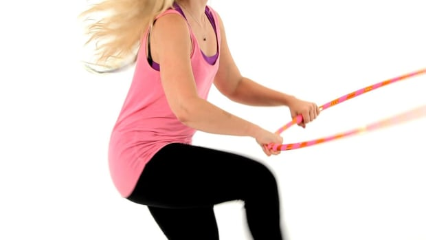R. How to Do a Hula Hoop Horizontal Jump Through Promo Image
