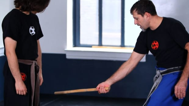X. How to Defend against a Low Stick from the Side in Krav Maga Promo Image