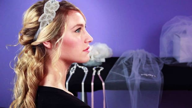 D. How to Do a Half Up / Half Down Wedding Hairstyle Promo Image