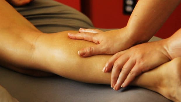N. How to Deep Tissue Massage the Back of Legs Promo Image