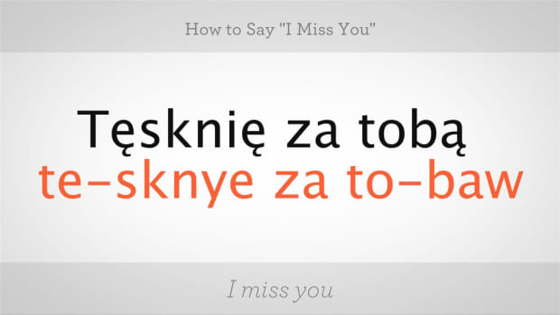 "I. How to Say ""I Miss You"" in Polish Promo Image"