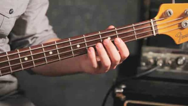 ZZZW. How to Play an F Minor Triad on Bass Guitar Promo Image