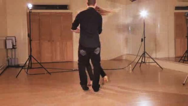 J. How to Do a Copa with an Inside Turn Salsa Step Promo Image