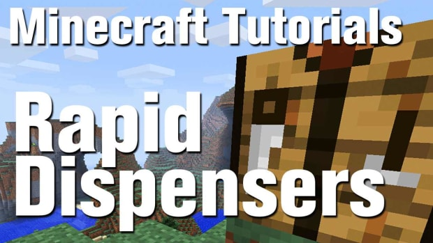 ZY. Minecraft Tutorial: How to Make a Rapid Dispenser (Machine Gun) in Minecraft Promo Image