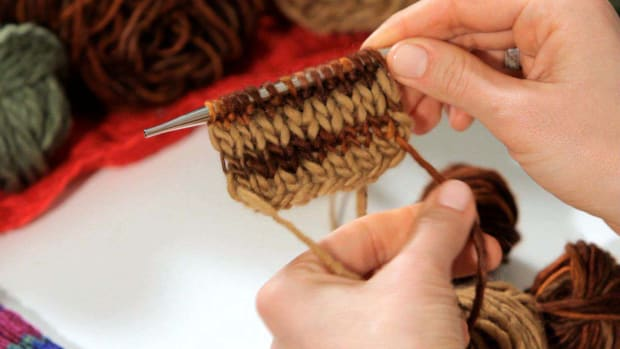 V. How to Knit a Striped Scarf Promo Image