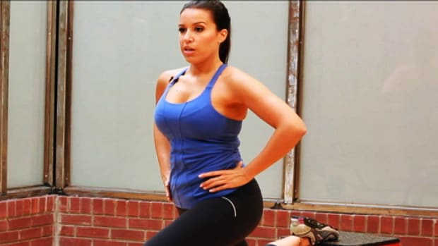 N. How to Do a Bulgarian Split Squat for Butt-Toning Workout Promo Image