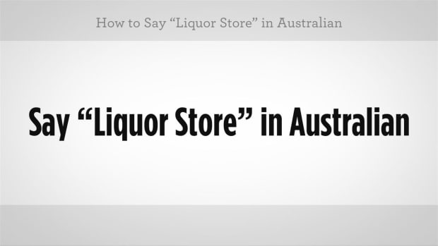 "I. How to Say ""Liquor Store"" in Australian Slang Promo Image"