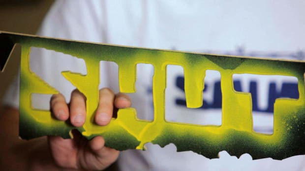 A. How to Make a Stencil to Custom Paint Your Skateboard Promo Image