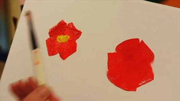 S. How to Paint an Abstract Flower Using Acrylic Paint Promo Image