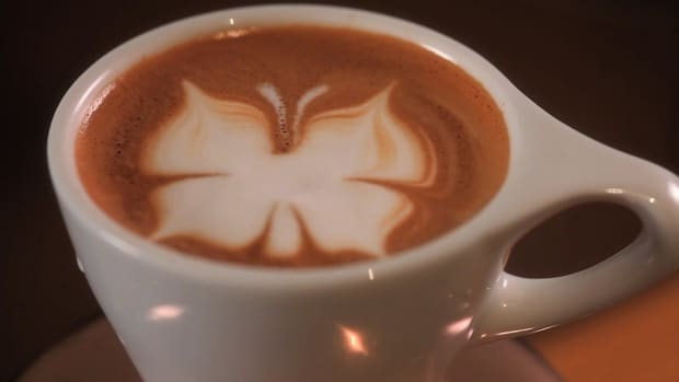 ZB. How to Etch a Latte Art Butterfly Promo Image