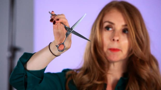 M. How to Hold Scissors While Cutting Hair Promo Image
