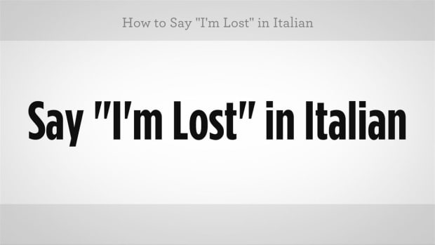 "ZZN. How to Say ""I'm Lost"" in Italian Promo Image"