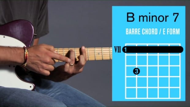 ZZZZS. How to Play a B Minor 7 Barre Chord on Guitar Promo Image