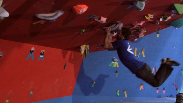 U. How to Do a Dyno in Indoor Rock Climbing Promo Image