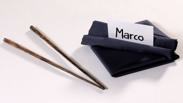 E. How to Fold a Napkin into a Double Roll Promo Image