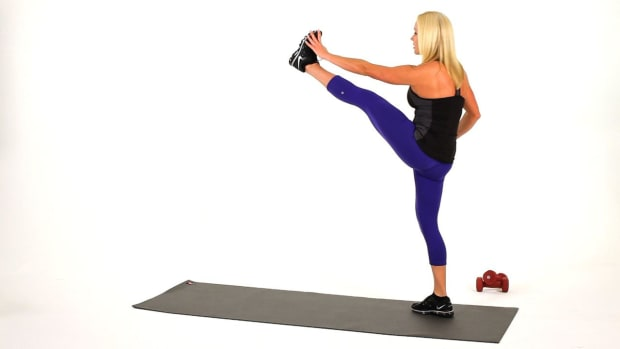 L. How to Do High Kicks for a Sexy Legs Workout Promo Image
