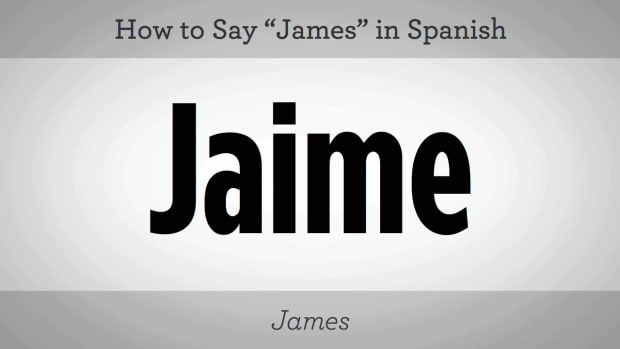"ZJ. How to Say ""James"" in Spanish Promo Image"