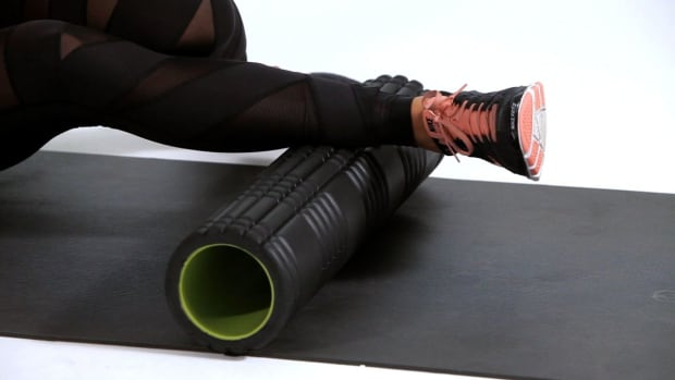 B. How to Foam Roll to Prevent Knee Pain Promo Image