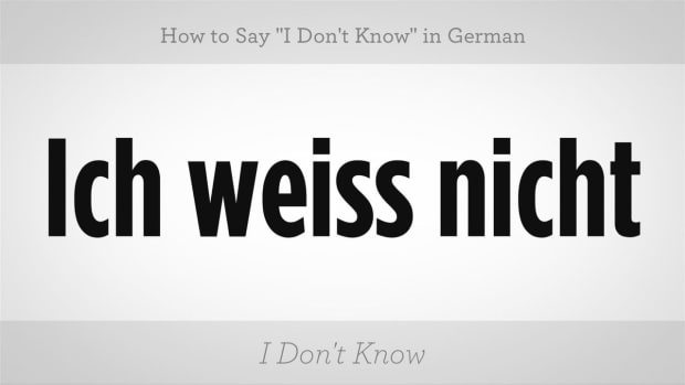 """ZZI. How to Say """"I Don't Know"""" in German Promo Image"""