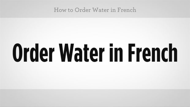 ZP. How to Order Water in French Promo Image