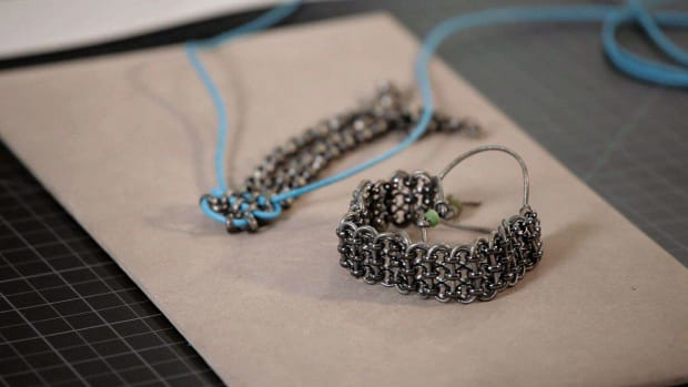 N. How to Make a Metal Rolo Chain and Wax Cord Bracelet Promo Image