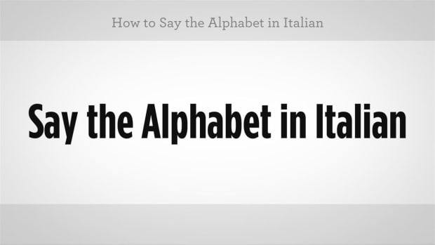 ZZX. How to Say the Alphabet in Italian Promo Image
