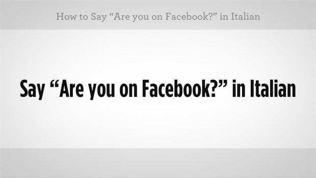 "ZZZD. How to Say ""Are You on Facebook"" in Italian Promo Image"