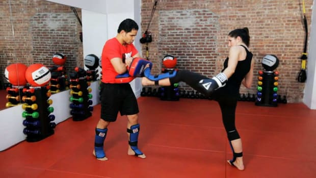 X. How to Do Partner Pad Training in Kickboxing Promo Image