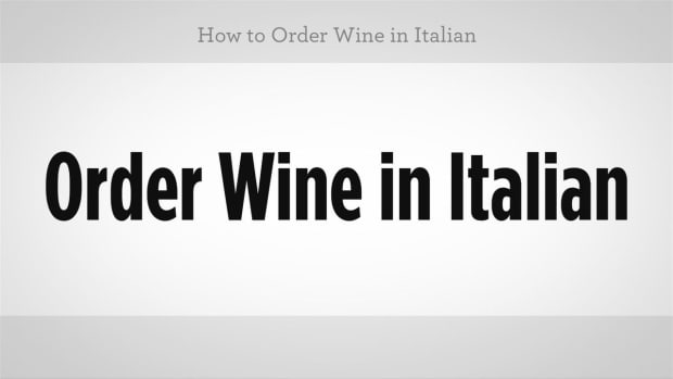 ZZR. How to Order Wine in Italian Promo Image