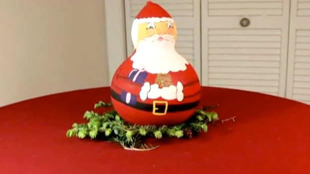 E. How to Craft a Christmas Gourd Santa Promo Image