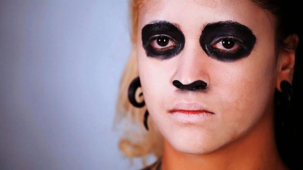 S. How to Hollow Out Features for Day of the Dead Makeup Promo Image