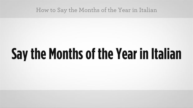 ZZW. How to Say Months of the Year in Italian Promo Image