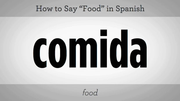 "ZP. How to Say ""Food"" in Spanish Promo Image"
