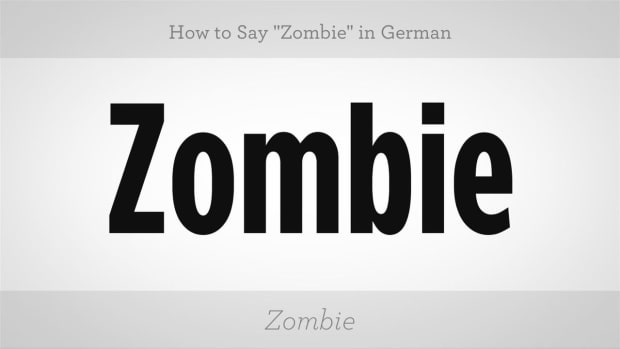 "ZX. How to Say ""Zombie"" in German Promo Image"