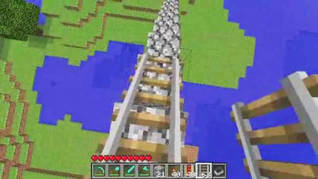 P. Minecraft Tutorial: How to Make a Minecraft Roller Coaster Promo Image