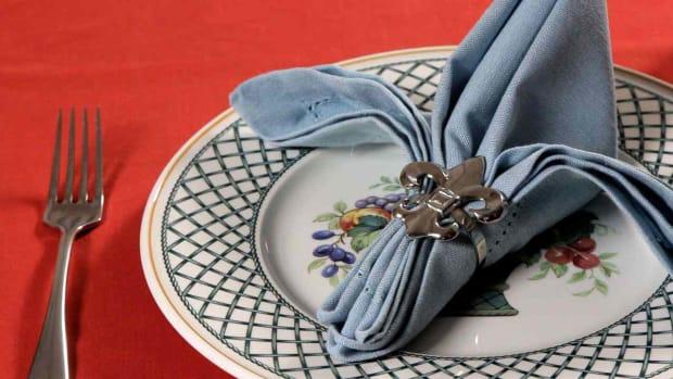U. How to Fold a Napkin into a Fleur de Lis Promo Image