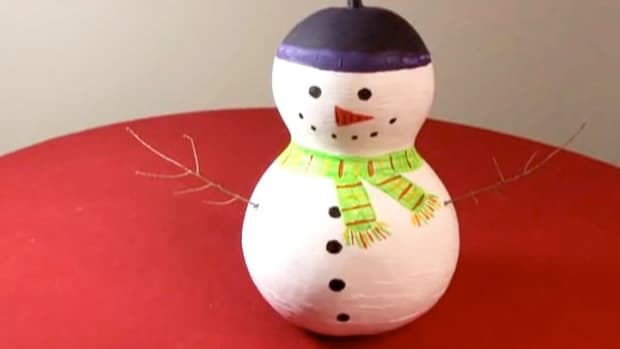 D. How to Craft a Christmas Gourd Snowman Promo Image