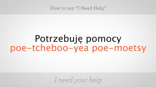 "ZZC. How to Say ""I Need Help"" in Polish Promo Image"