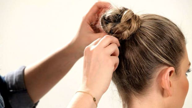 J. How to Do a Braided Chignon Promo Image