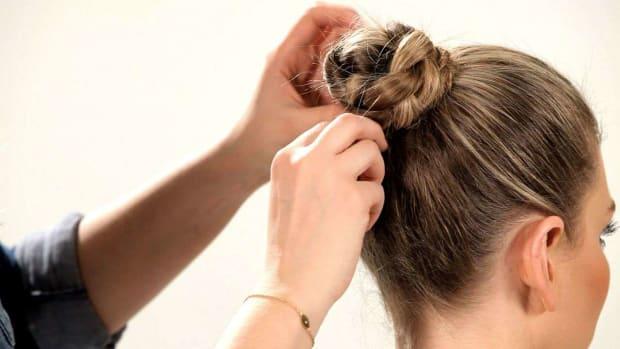 J. How to Do a Braided Chignon Promo Image