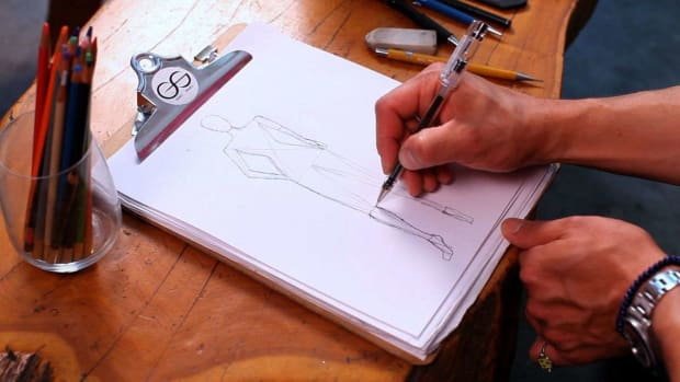 A. How to Draw a Figure for a Fashion Sketch Promo Image